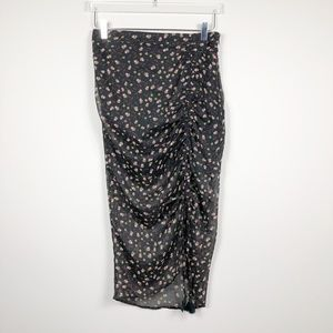 Q-3: Rebecca Minkoff black floral skirt